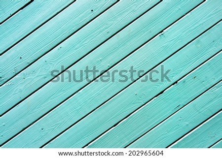 blue colored wooden surface - stock photo