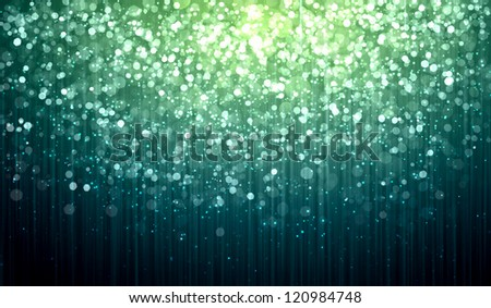 Blue colour bokeh abstract light background. Illustration - stock photo