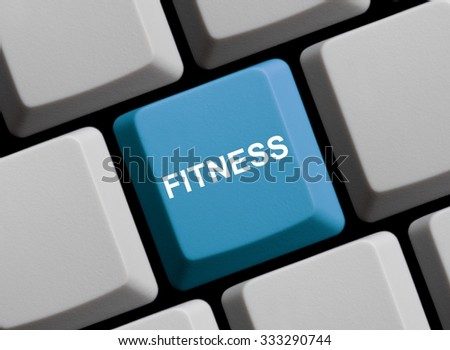 Blue Computer Keyboard is showing Fitness