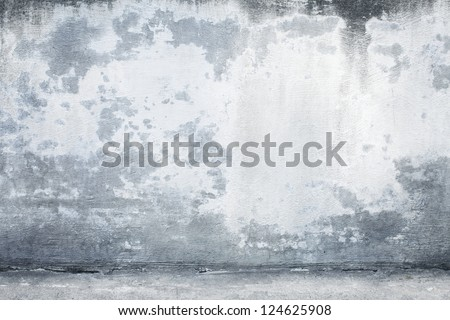 Blue Concrete Background including the Floor - stock photo