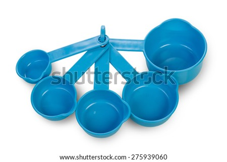Blue containers for Washing powder - stock photo