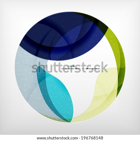 Blue corporate abstract shapes modern brochure design - stock photo