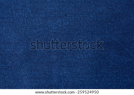Blue cotton fabric texture background. - stock photo