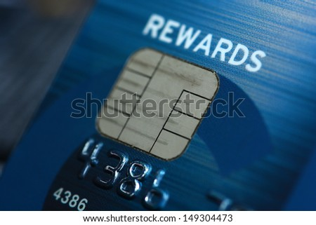 Blue Credit card background