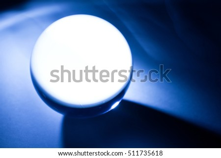 Blue Crystal Ball for background