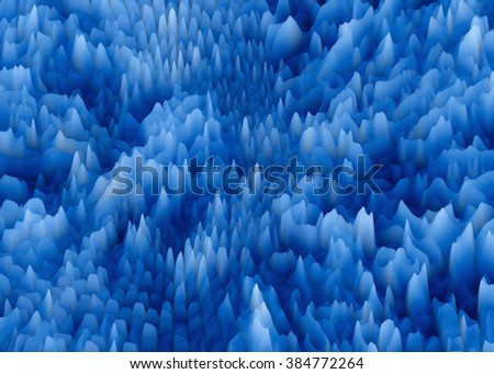 blue crystal burst abstract texture - stock photo
