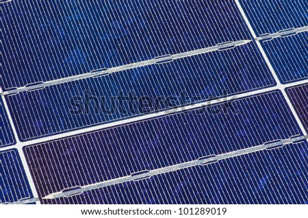blue crystalline silicon photovoltaic solar panel background detail