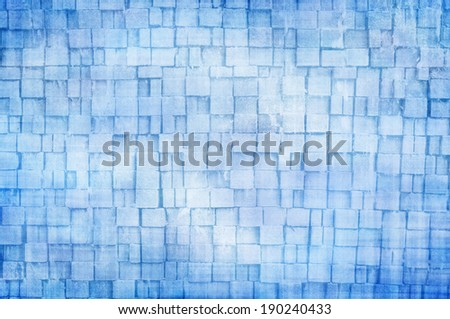 blue cube abstract background