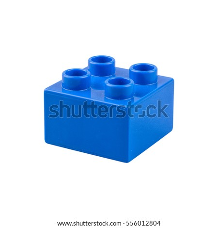 Blue cube isolated on a white background