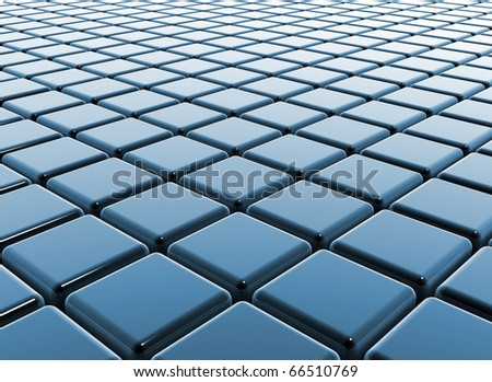 Blue cubes reflective business background