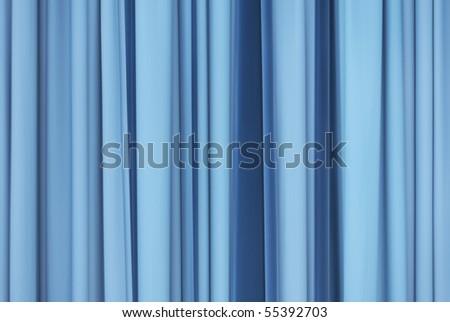 blue curtain - stock photo