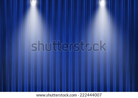 blue curtain and light for background