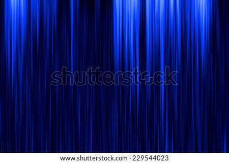 Blue curtain on theater or cinema stags