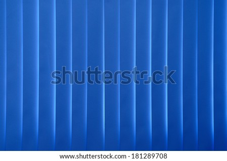 Blue curtains blinds  inside office closed./Blue curtains blinds   - stock photo