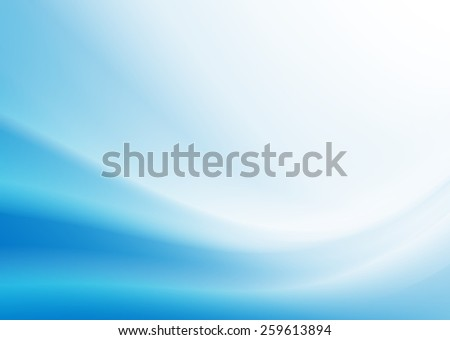 Blue Curved Abstract Background - stock photo