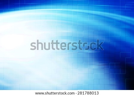 Blue Curves Blur Background