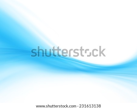 Blue Curvy Abstract Background - stock photo