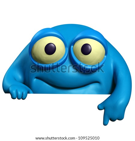 blue cute beast - stock photo