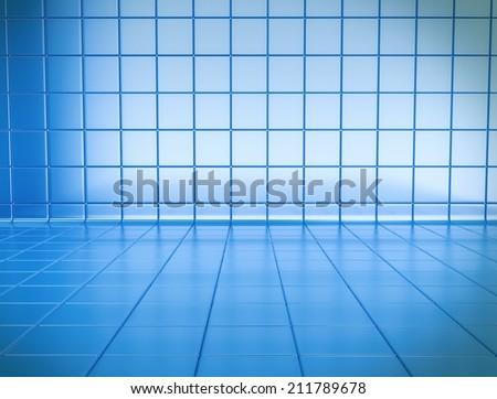 Blue 3d  cubes background  - stock photo