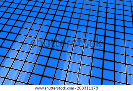 Blue 3D Cubes Background Abstract Background Illustration.