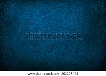 Blue dark abstract   background , with   painted  grunge background texture for  design .
