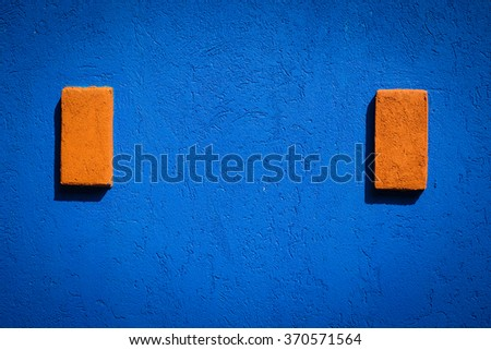 Blue dark wall background or texture - stock photo