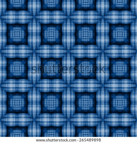 blue Decorative seamless pattern in ethnic geometric style - stock photo