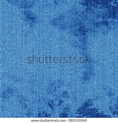 Blue denim background - stock photo