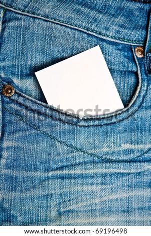 blue denim background of good quality - stock photo