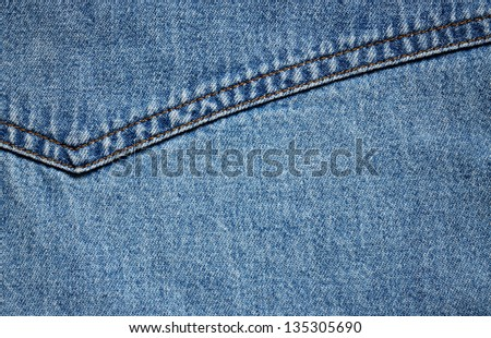 Blue denim fabric for background