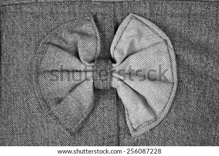 Blue denim jeans texture, background:Black and White - stock photo