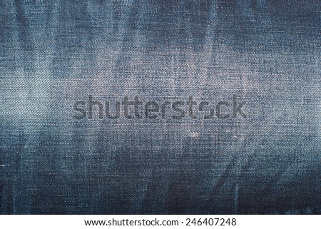 Blue Denim Texture, Background, Jeans - stock photo
