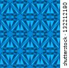 Blue diamond seamless pattern.  Raster version. - stock photo