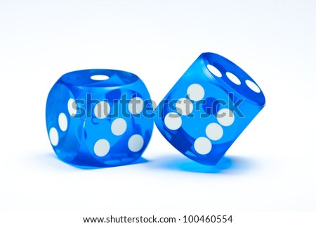 blue dices - stock photo