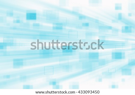 blue digital abstract technology background - stock photo