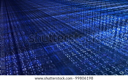 Blue digital background with numbers