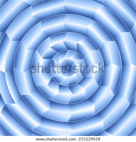 Blue digital radial design - stock photo