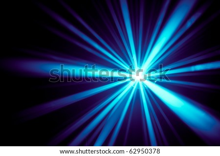 blue disco rays - stock photo