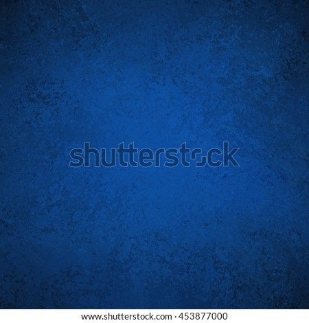 blue distressed background with black vignette border grunge - stock photo