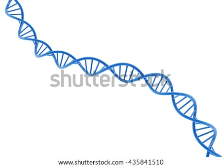 Blue DNA. 3D illustration.