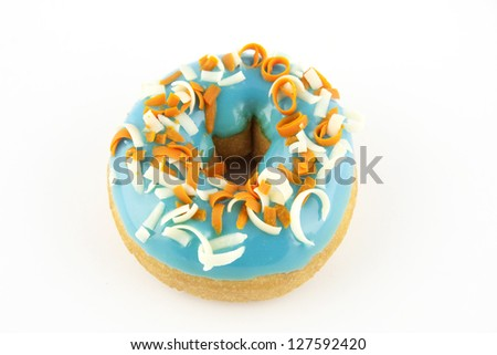 blue donut on a white background