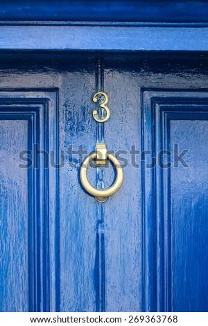 Blue Door in Bray, Wicklow, Ireland - stock photo