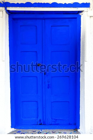 Blue door-Kas-Turkey