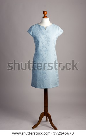 blue dress on a mannequin
