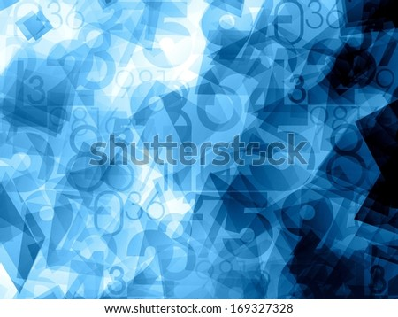 blue dynamic abstract numbers background texture - stock photo