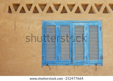 blue Egyptian window