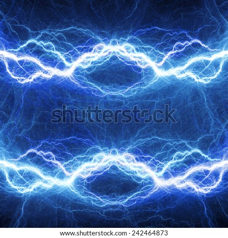 Blue electric double lighting, abstract electrical background
