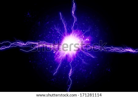 Blue energy light - stock photo