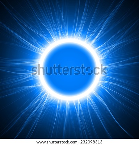 blue energy ring abstract background