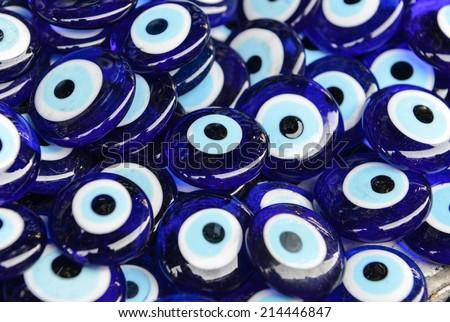 Blue Evil Eye souvenir sold in Istanbul Turkey